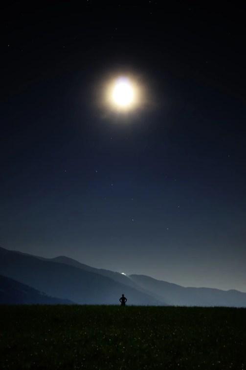 Night Star Human Moon Universe Starry Sky Big Bar
