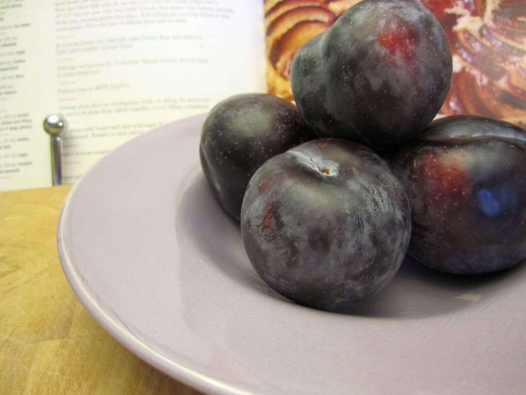Plum Almond Tart | infinebalance.com #recipe