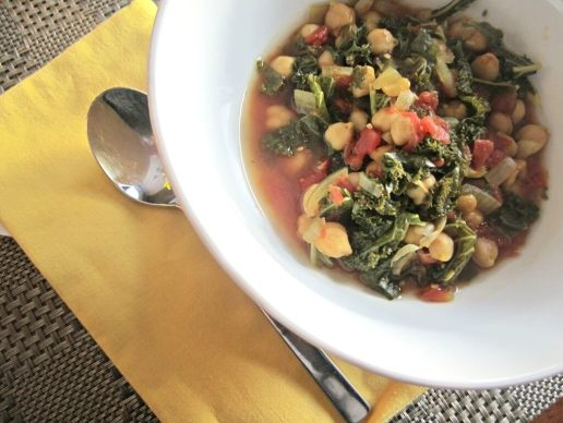 Slow-cooker: Chickpea and Kale Stew vegetarian vegan soup slowcooker kale food crockpot chickpeas