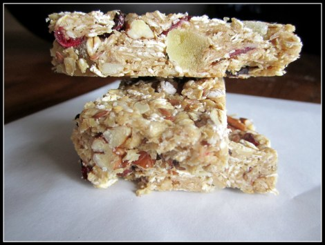 tropical fruit granola bars