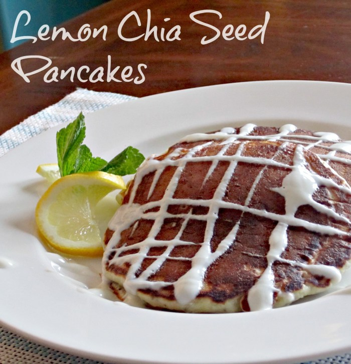 Lemon Chia Seed Pancakes yogurt pancakes lemon chia Breakfast