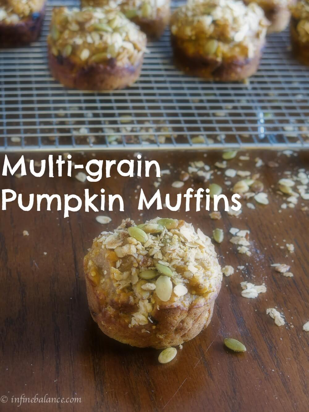 Multi-grain pumpkin muffins with brown sugar streusel topping vegan tips streusel pumpkin Muffins baking