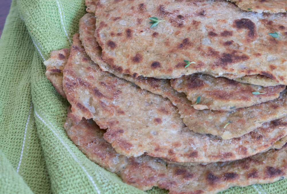 "Zucchini, Lemon Thyme and Onion Flatbread | ""Spices & Seasons"" Blog Cookoff"