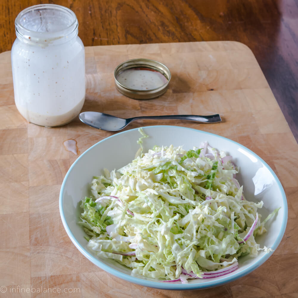 Creamy Savoy Cabbage Slaw with Chardonnay Mustard Dressing winter slaw salads cabbage