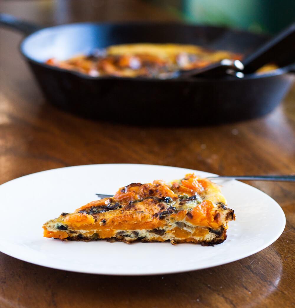 Roasted Sweet Potato Frittata sweet potatoes onions fall eggs dairy-free