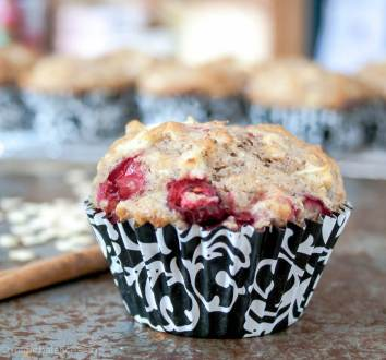 Cranberry Apple Muffins | infinebalance.com #recipe #baking
