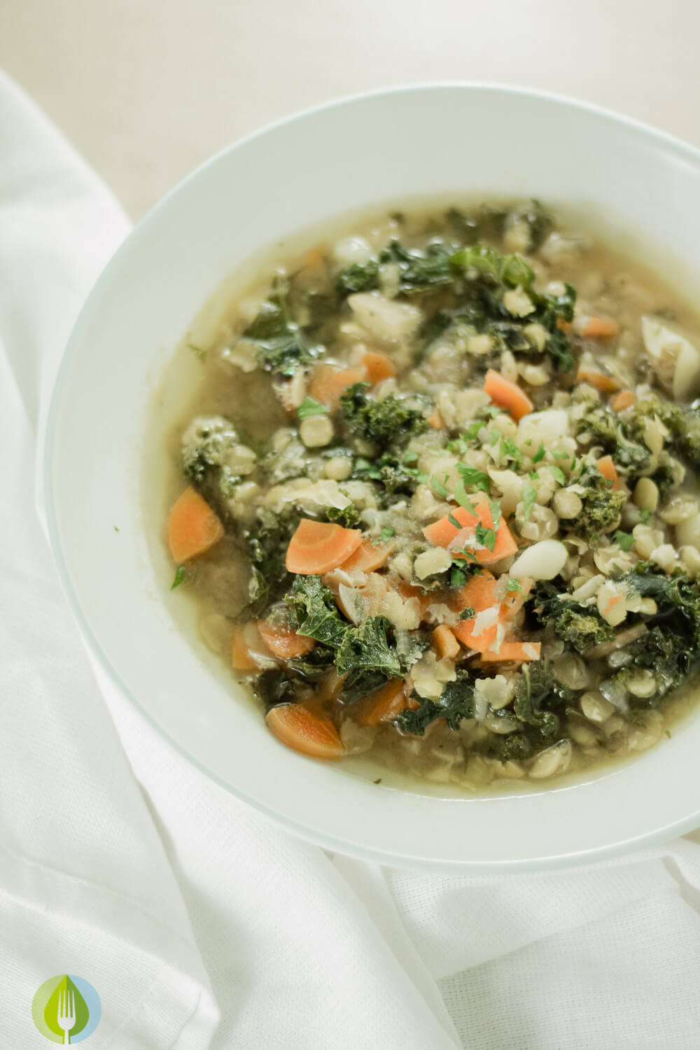 Lemony Split Pea and Kale Soup