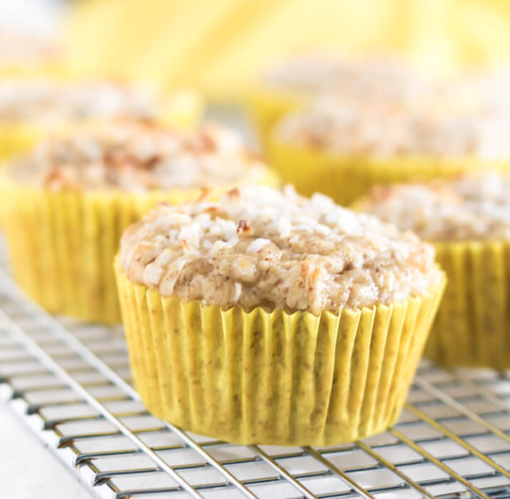 Pineapple Coconut Muffins #GF #V yogurt vegan pinapple muffin gluten-free coconut