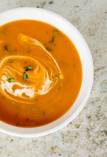 Slow Cooker Creamy Tomato Soup | infinebalance.com #recipe
