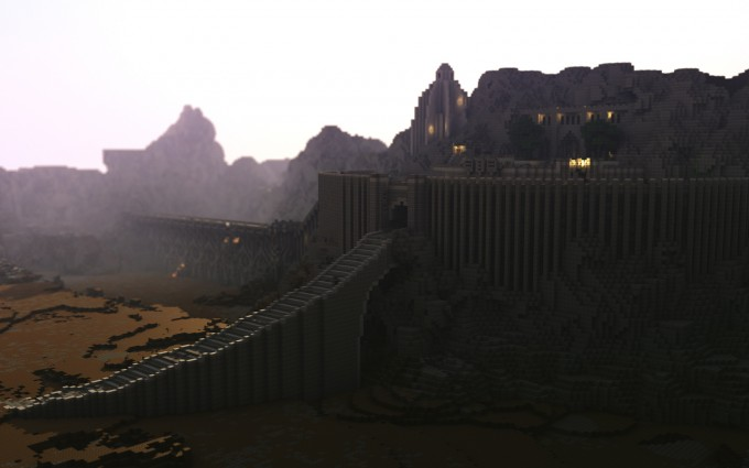 Minecraft Lord Of The Rings Helms Deep Render Minecraft