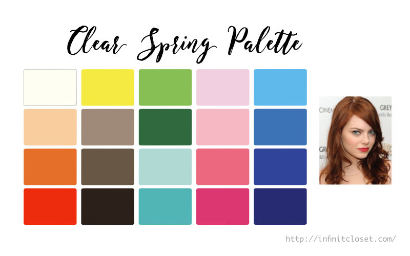 Some colors from the Clear Spring palette