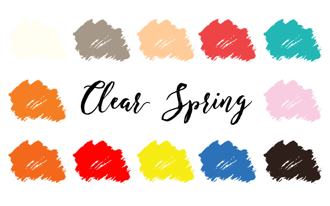 Clear Spring Palette (Bright Spring, Clear Warm)