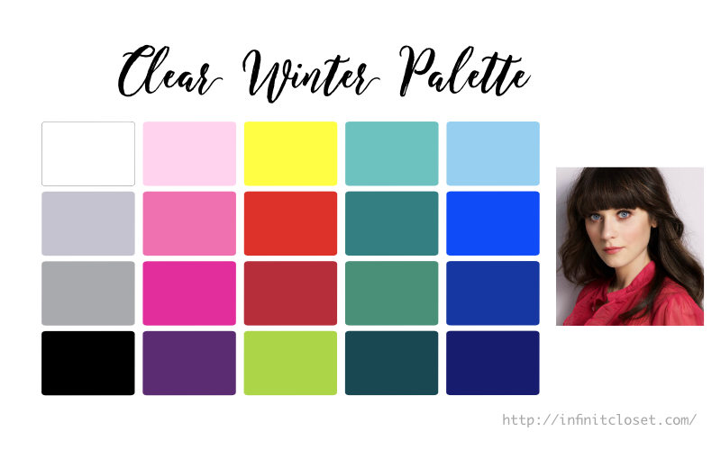 Some colors from the Clear Winter Palette