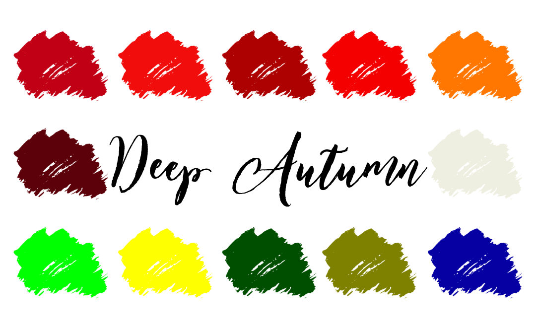 Deep Autumn (Dark Autumn) Palette