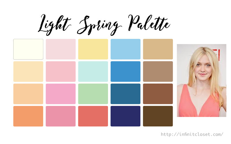 Some colors from the Light Spring Palette