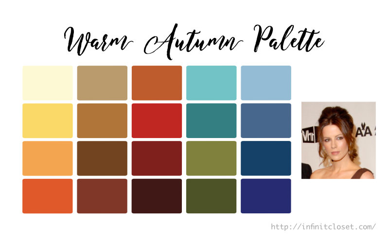 Some colors from the Warm Autumn Palette
