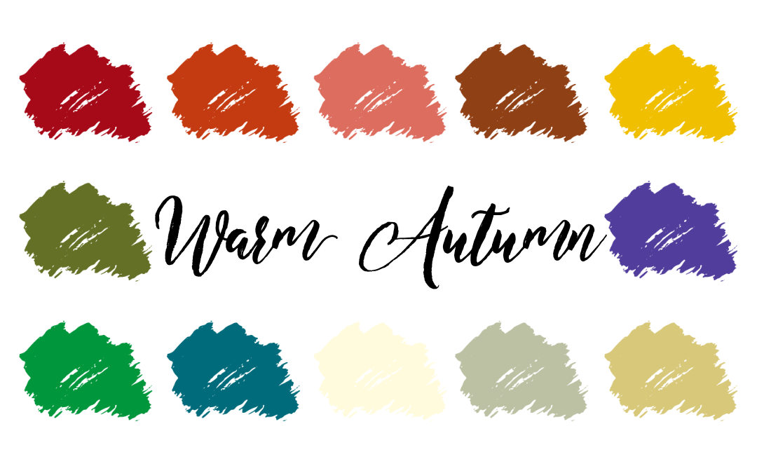 Warm Autumn Palette (True Autumn, Warm Deep)