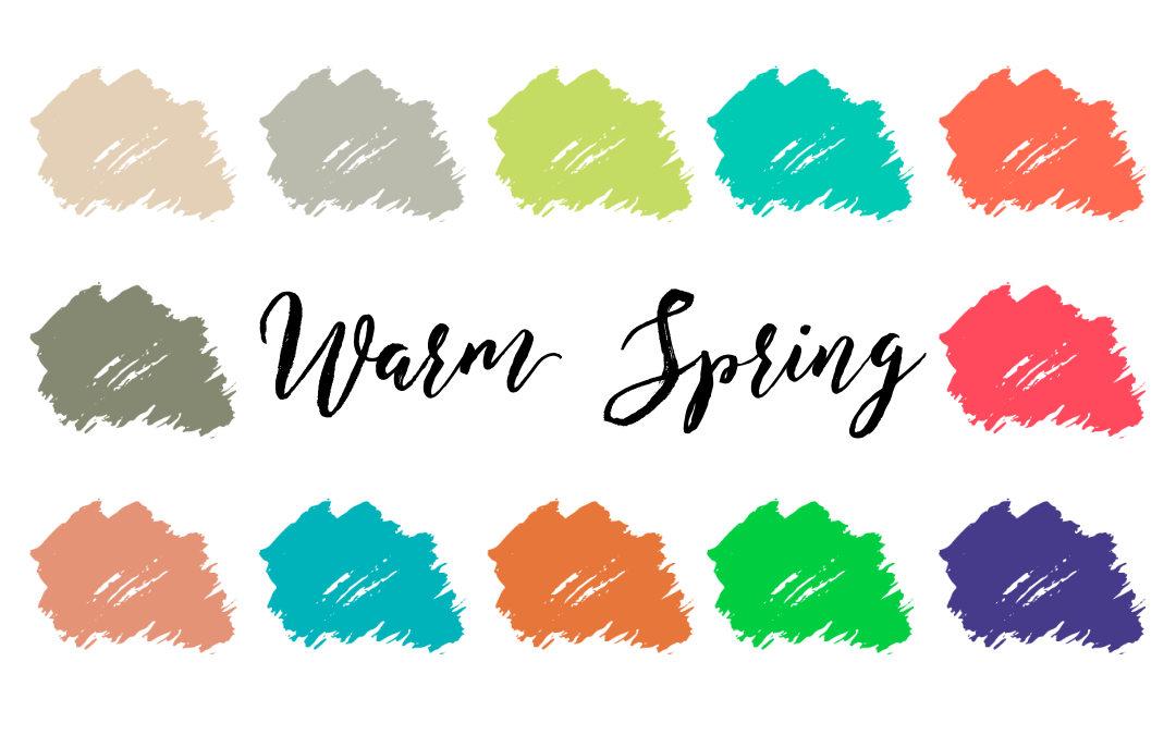 Warm Spring Palette (True Spring, Warm Clear)