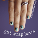 (Accidental) Gift Wrap Bow Nails