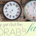 DIY Scrapbook Clock