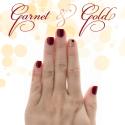 FSU Game Day Nails // Garnet & Gold for Valentine's Day