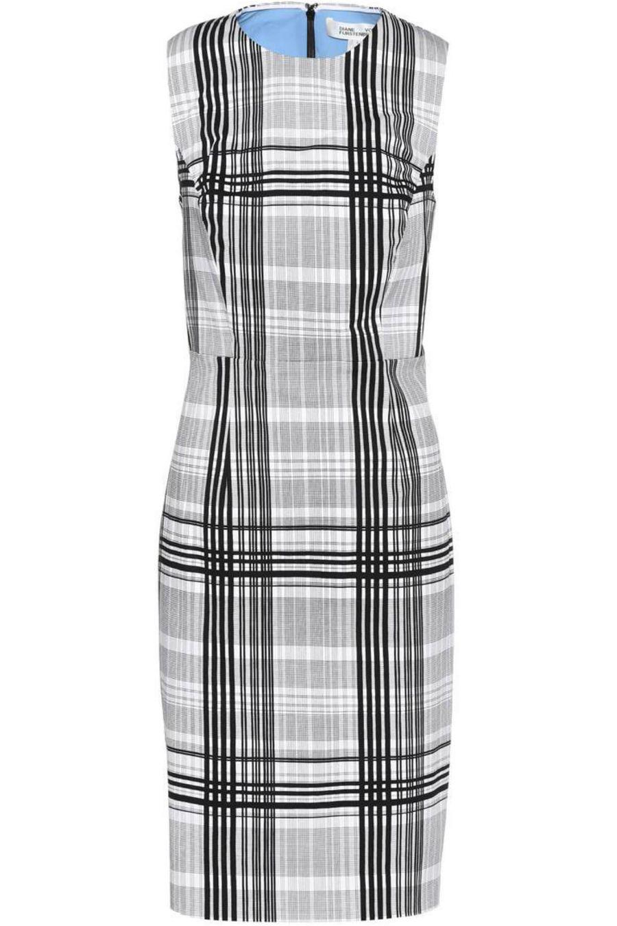 diane-von-furstenberg-checkered-knee-length-dress-1