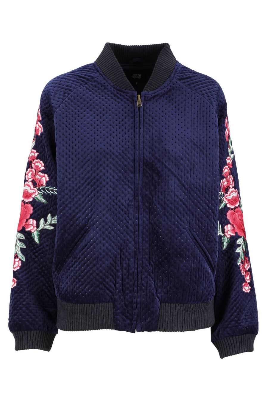 goldie-navy-quilted-velvet-bomber-jacket-1