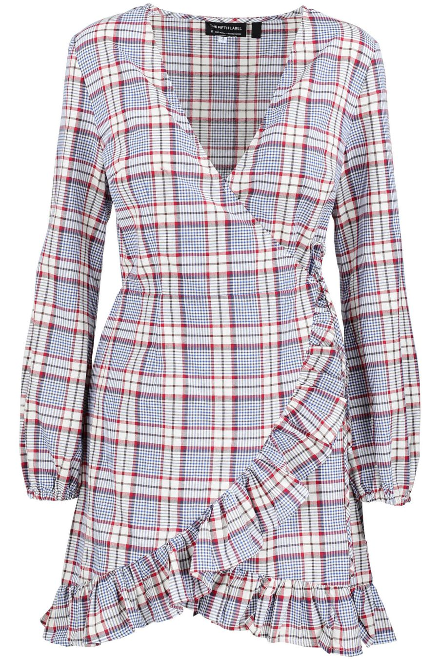 the-fifth-label-phonic-tartan-wrap-dress-1
