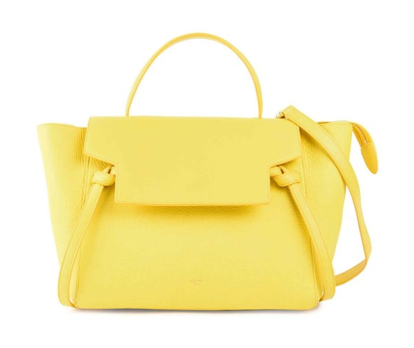 Style Theory Designer Bags_Celine Mini Belt Bag Yellow