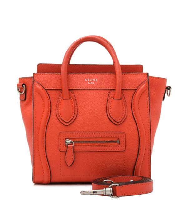 Style Theory Designer Bags_Celine Nano Luggage Vermilon