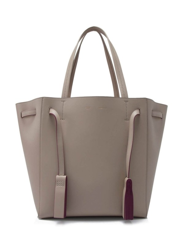 Style Theory Designer Bags_Celine Small Cabas Tote With Tassel Dune