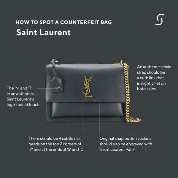 How to spot a counterfeit Saint Laurent designer bag