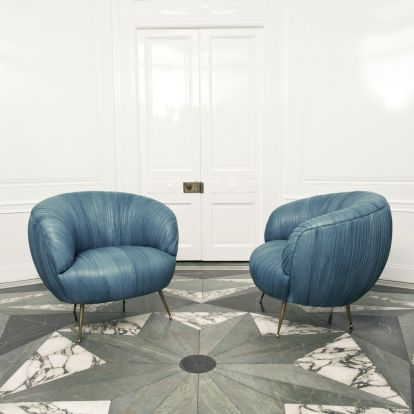 souffle chairs - blue