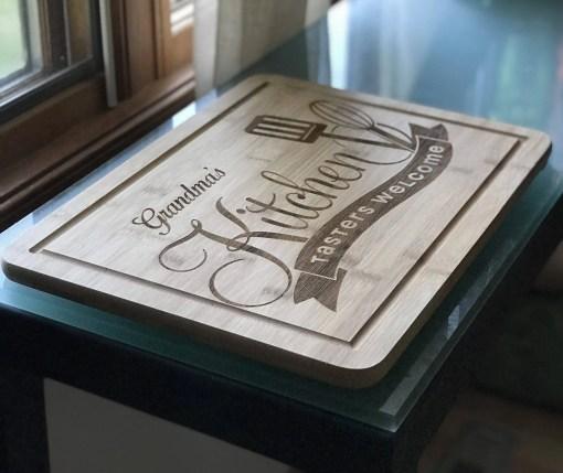 bamboo cutting board custom engraved