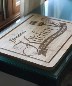 bamboo cutting board custom engraved