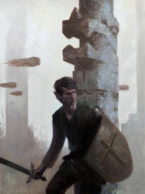 D Palumbo, The Graveyard Link Zelda painting