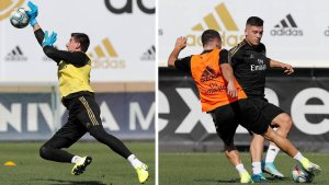 Courtois & Jovic back training with the team
