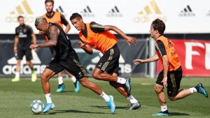 Back in training to prepare for Villarreal