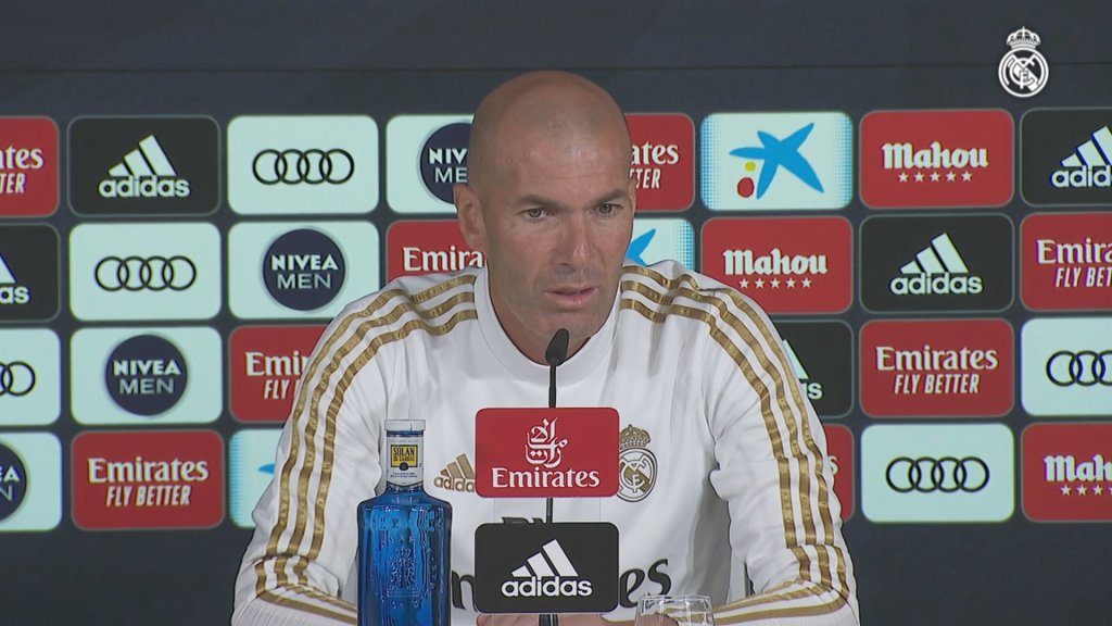 "Zidane: ""We're focused on putting in a good display tomorrow"""