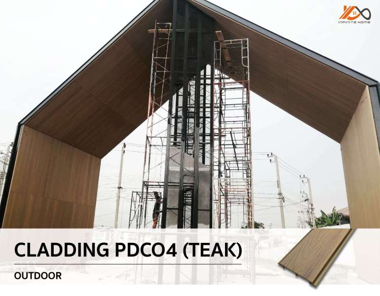 การติดตั้งไม้ฝ้าและผนัง PDCO ภายนอก