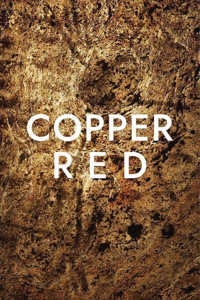 แผ่นหินวีเนียร์ โปร่งแสง Copper Red