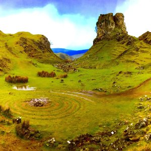 Tour Skye to visit the magical Fairy Glen with weird rock towers and stone circles