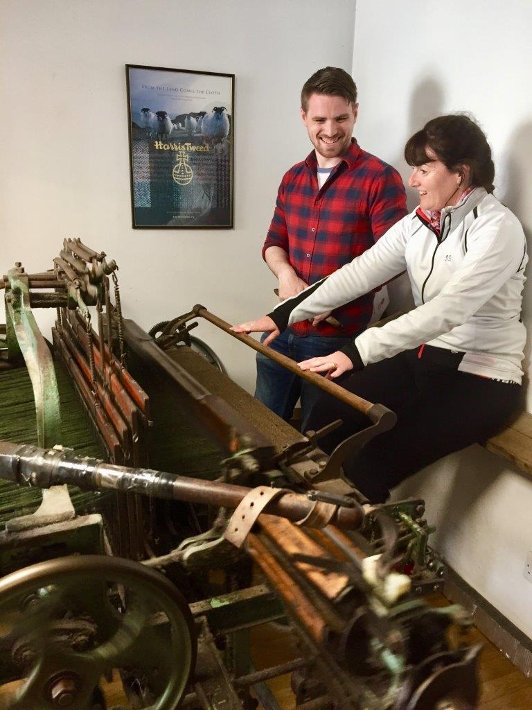 Harris Tweed foot loom
