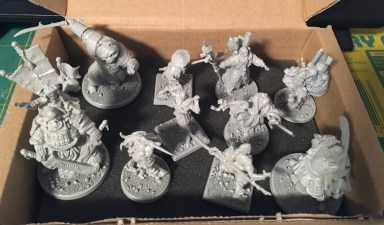 My future Frostgrave warband (most models from Rum & Bones)