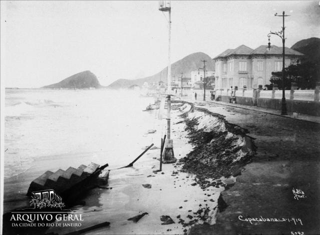 Praia de Copacabana Malta, Augusto, Data: 02/01/1919