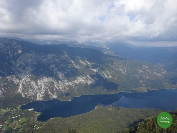 Lago Bohinj desde Vogel que ver en eslovenia