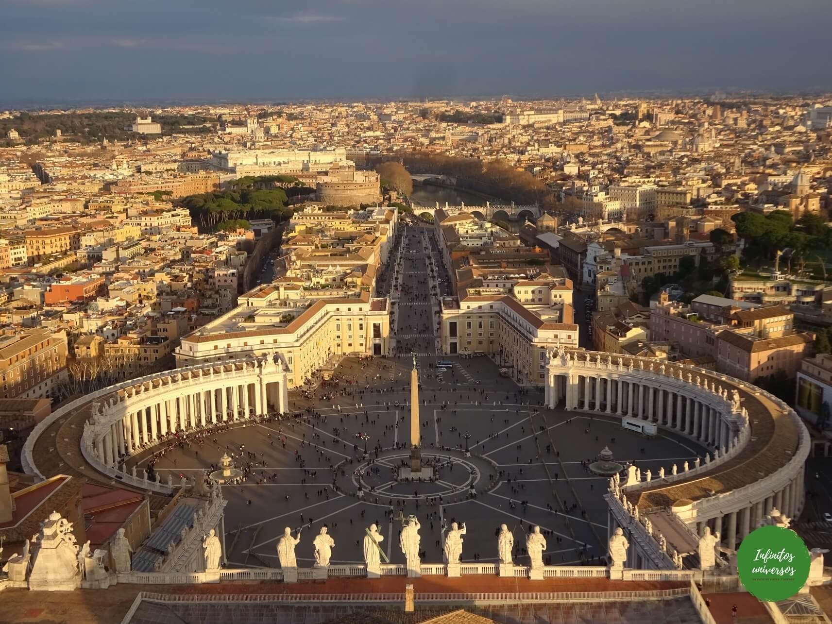 Plaza de San Pedro desde la cúpula - Qué ver en el Vaticano