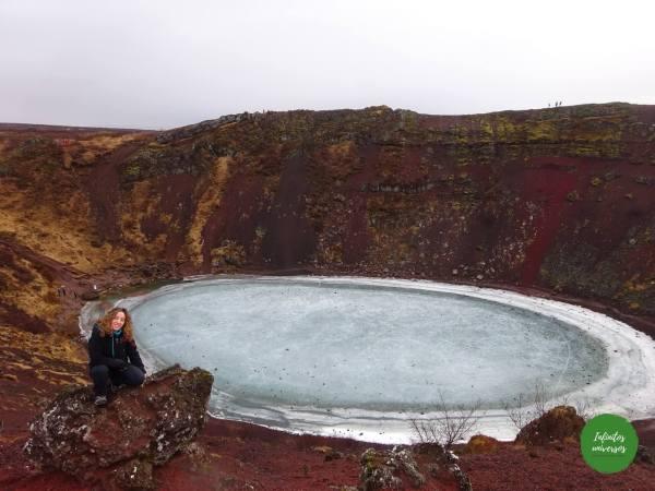 Cráter Kerið- Islandia  - Qué ver en Islandia