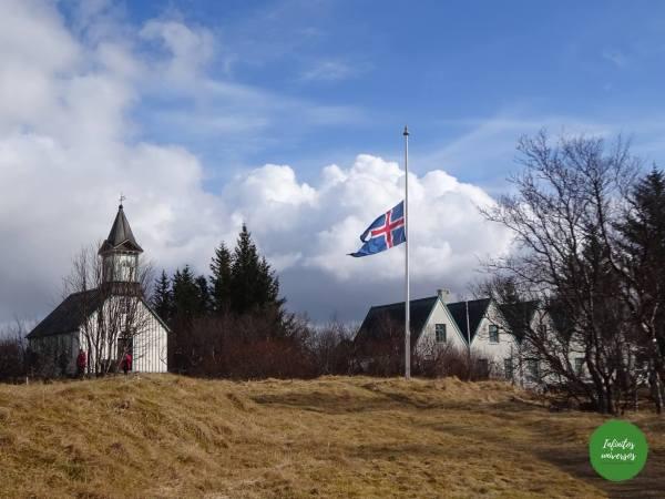 Iglesia Þingvallakirkjay granja Thingvallabaer Islandia en 4 días