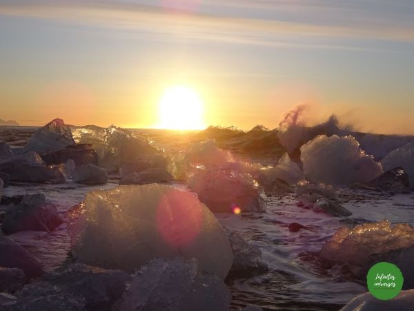 Amanecer en la playa de los diamantes